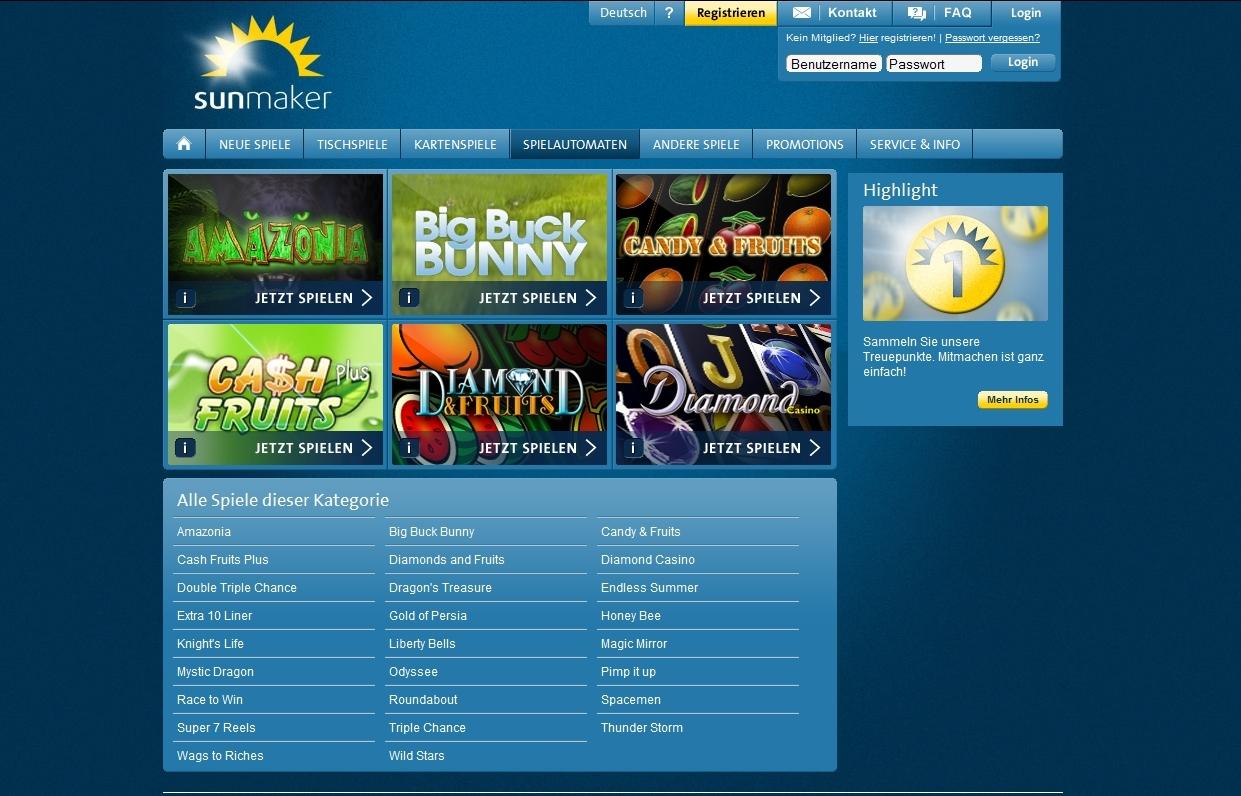 online casino sunmaker spielen spielen kostenlos